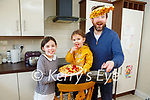 Chad Byrne Milltown and his daughters Shannon and Chloe flipping pancakes on Tuesday