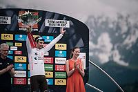 Pierre Latour (FRA/AG2R-LaMondiale)  wins the white jersey / best young rider<br /> <br /> Stage 7: Moûtiers > Saint-Gervais Mont Blanc (129km)<br /> 70th Critérium du Dauphiné 2018 (2.UWT)