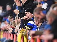 1st October 2021;  Ashton Gate Stadium, Bristol, South Gloucestershire, England; Gallagher Premier League rugby, Bristol Bears versus Bath Rugby: a frustrated Bath fan watches his team lose the match