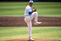 Duke Blue Devils pitcher Josh Allen (8) makes a pitch to the plate against the Liberty Flames in NCAA Regional play on Robert M. Lindsay Field at Lindsey Nelson Stadium on June 4, 2021, in Knoxville, Tennessee. (Danny Parker/Four Seam Images)