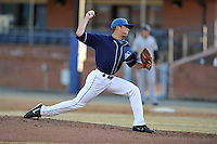 Asheville Tourists starting pitcher Shane Broyles #32 delivers a pitch during a game against the West Virginia Power at McCormick Field on April 13, 2013 in Asheville, North Carolina. The Power won the game 14-9. (Tony Farlow/Four Seam Images).