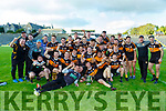 Austin Stacks team celebrate after winning the county Club Champions final in Fitzgerald Stadium on Sunday