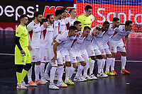 9th October 2020; Palau Blaugrana, Barcelona, Catalonia, Spain; UEFA Futsal Champions League Finals; FC Barcelona versus MFK KPRF;  The MFK player line up