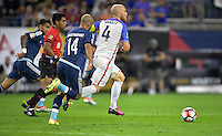 Houston, TX - Tuesday June 21, 2016: Javier Mascherano, Michael Bradley during a Copa America Centenario semifinal match between United States (USA) and Argentina (ARG) at NRG Stadium.