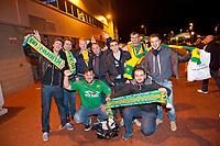Thursday 24 October 2013  <br /> Pictured:  Fans outside the Stadium<br /> Re:UEFA Europa League, Swansea City FC vs Kuban Krasnodar,  at the Liberty Staduim Swansea