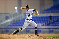 Bradenton Marauders relief pitcher Jess Amedee (23) delivers a pitch during a game against the Dunedin Blue Jays on July 17, 2017 at Florida Auto Exchange Stadium in Dunedin, Florida.  Bradenton defeated Dunedin 7-5.  (Mike Janes/Four Seam Images)