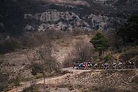 descending towards the finish<br /> <br /> 76th Paris-Nice 2018<br /> stage 6: Sisteron > Vence (198km)