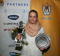 01-12-13,Netherlands, Almere,  National Tennis Center, Tennis, Winter Youth Circuit, Girls 16 years ,winner : Liza Lebedzeva<br /> Photo: Henk Koster