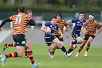 Leinster wing Sam Coghlan-Murray weaves his way throughout the Quins defence.<br /> British & Irish Cup<br /> Carmarthen Quins v Leinster A<br /> Carmarthen Park<br /> 25.10.14<br /> ©Steve Pope-SPORTINGWALES