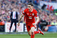 Harry Wilson of Wales in action during the UEFA EURO 2020 Qualifier match between Wales and Slovakia at the Cardiff City Stadium, Cardiff, Wales, UK. Sunday 24 March 2019