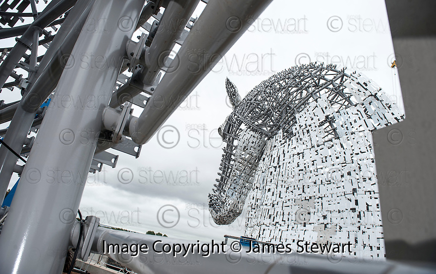 The inside of the up headed Kelpie, looking out to the down headed Kelpie.