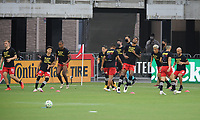 WASHINGTON, DC - AUGUST 25: D.C. United warming up during a game between New England Revolution and D.C. United at Audi Field on August 25, 2020 in Washington, DC.
