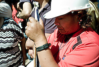 Relatives of miners trapped 700 meters under the ground since August 5th reacts emotionally to the news that miners could soon be rescued.
