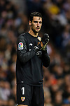 Goalkeeper Sergio Rico of Sevilla FC in action during La Liga 2017-18 match between Real Madrid and Sevilla FC at Santiago Bernabeu Stadium on 09 December 2017 in Madrid, Spain. Photo by Diego Souto / Power Sport Images