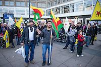 """Etwa 250 bis 300 Menschen demonstrierten am Sonntag den 1. November 2015 am sog. """"Kobane-Solidaritaetstag"""" in Berlin. Sie forderten einen humanitaeren Korridor fuer den Wiederaufbau der durch die Terrororganisation Islamischer Staat (IS) zerstoerten Stadt im syrischen Grenzgebiet zur Tuerkei. Die tuerkische Regierung unterbindet Hilfslieferungen durch die Grenztruppen, humanitaere Hilfe kann nur unter erschwerten Bedingungen oder gar nicht in die Region gelangen.<br /> Im Bild: Maenner tanzen zu kurdischer Musik.<br /> 1.11.2015, Berlin<br /> Copyright: Christian-Ditsch.de<br /> [Inhaltsveraendernde Manipulation des Fotos nur nach ausdruecklicher Genehmigung des Fotografen. Vereinbarungen ueber Abtretung von Persoenlichkeitsrechten/Model Release der abgebildeten Person/Personen liegen nicht vor. NO MODEL RELEASE! Nur fuer Redaktionelle Zwecke. Don't publish without copyright Christian-Ditsch.de, Veroeffentlichung nur mit Fotografennennung, sowie gegen Honorar, MwSt. und Beleg. Konto: I N G - D i B a, IBAN DE58500105175400192269, BIC INGDDEFFXXX, Kontakt: post@christian-ditsch.de<br /> Bei der Bearbeitung der Dateiinformationen darf die Urheberkennzeichnung in den EXIF- und  IPTC-Daten nicht entfernt werden, diese sind in digitalen Medien nach §95c UrhG rechtlich geschuetzt. Der Urhebervermerk wird gemaess §13 UrhG verlangt.]"""