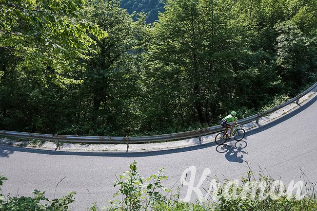 Davide Villella (ITA/Cannondale-Drapac) up the Foza climb (1086m)<br /> <br /> Stage 20: Pordenone › Asiago (190km)<br /> 100th Giro d'Italia 2017