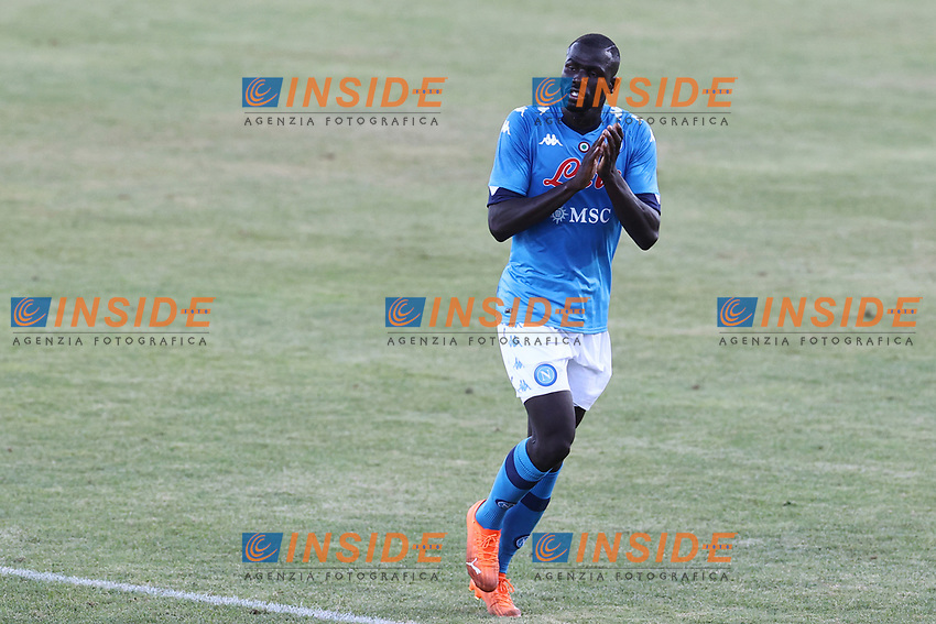 Kalidou Koulibaly of SSC Napoli greets <br /> during the friendly football match between SSC Napoli and SS Teramo Calcio 1913 at stadio Patini in Castel di Sangro, Italy, September 04, 2020. <br /> Photo Cesare Purini / Insidefoto