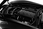 Car stock 2019 Chevrolet Corvette Stingray 3LT 2 Door Coupe engine high angle detail view