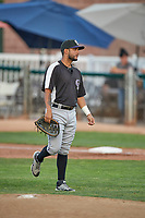 Jonathan Pino (24) of the Grand Junction Rockies during the game against the Ogden Raptors at Lindquist Field on June 5, 2021 in Ogden, Utah. The Raptors defeated the Rockies 18-1. (Stephen Smith/Four Seam Images)