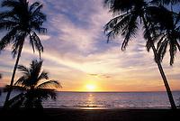 Sunset at Charley Young Beach, Kihei, Hawaii.