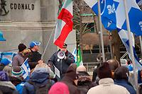 Manifestation '' Dehors les Liberaux '',Dimanche 15 Avril 2018.<br /> <br />  PHOTO : Mathieu Tye - Agence Quebec Presse