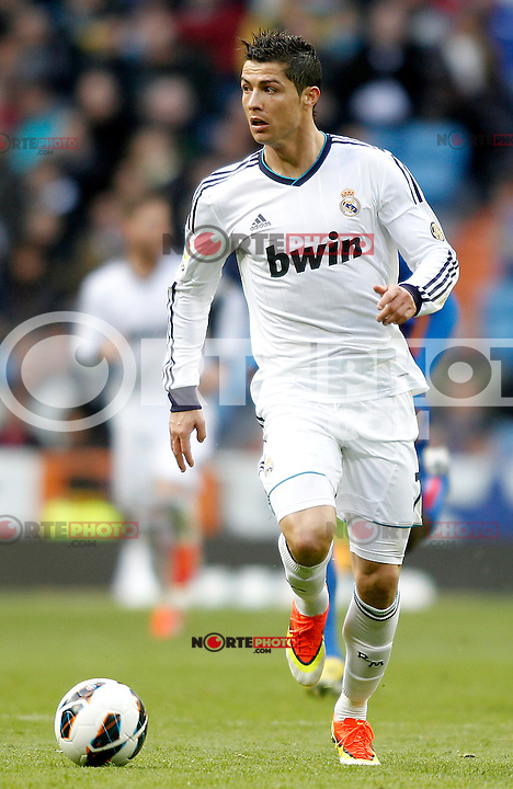 Real Madrid's Cristiano Ronaldo during La Liga BBVA match. April 6, 2013.(ALTERPHOTOS/Alconada)