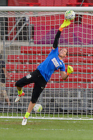 Chicago, IL - Saturday July 30, 2016: Nicole Barnhart prior to a regular season National Women's Soccer League (NWSL) match between the Chicago Red Stars and FC Kansas City at Toyota Park.