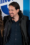 """The leader of Podemos, Pablo Iglesias during the main event of the XV Aniversary of the """"20Minutos"""" newspaper at Headquarters of the Community of Madrid, November 24, 2015<br /> (ALTERPHOTOS/BorjaB.Hojas)"""
