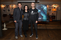 """NEW YORK - OCTOBER 30: (L-R) Carlos Loret de Mola, Executive Producer Rebecca Cammisa and Jack Hutton attend the reception after the screening of National Geographic Documentary Films """"Sea of Shadows"""" and """"Lost and Found"""" on October 30, 2019 in New York City. (Photo by Anthony Behar/National Geographic/PictureGroup)"""