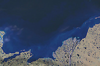 satellite image of Prudhoe Bay, Alaska