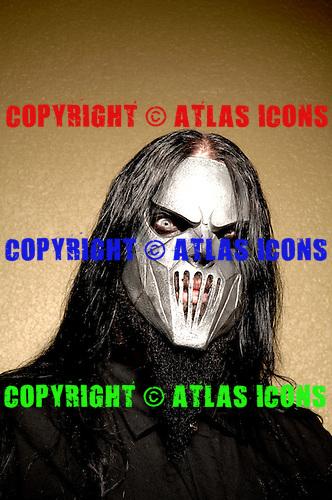 (#7) Mick Thomson – guitars, Slipknot Studio Portrait Session .In Desmoines Iowa.Photo Credit: Eddie Malluk/Atlas Icons.com