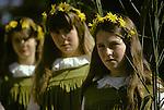 Grasmere Rush Bearing Ceremony. Cumbria Lake District UK 1974,