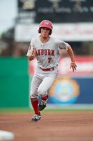 Auburn Doubledays third baseman Cole Daily (7) runs the bases during a game against the Batavia Muckdogs on September 2, 2018 at Dwyer Stadium in Batavia, New York.  Batavia defeated Auburn 5-4.  (Mike Janes/Four Seam Images)