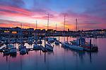 Grossbritannien, England, Kent, Ramsgate: Sonnenuntergang ueber dem Hafen | Great Britain, England, Kent, Ramsgate: The harbour at sunset