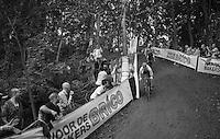 Laurens Sweeck (BEL/Era-Murprotec) on the steep descent<br /> <br /> Brico-cross Geraardsbergen 2016<br /> U23 + Elite Mens race