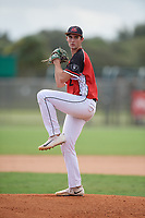Kaden Calkins (20) during the WWBA World Championship at the Roger Dean Complex on October 13, 2019 in Jupiter, Florida.  Kaden Calkins attends Southlake Carroll High School in Aurora, TX and is committed to McLennan CC.  (Mike Janes/Four Seam Images)