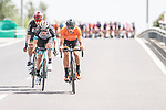 The breakaway tries to form during Stage 9 of La Vuelta d'Espana 2021, running 188km from Puerto Lumbreras to Alto de Velefique, Spain. 22nd August 2021.    <br /> Picture: Unipublic/Charly Lopez   Cyclefile<br /> <br /> All photos usage must carry mandatory copyright credit (© Cyclefile   Charly Lopez/Unipuplic)