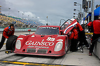 #99 GAINSCO/Bob Stallings Racing Pontiac/Riley of Jon Fogarty & Alex Gurney makes a pit stop.