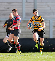 Monday 27th February 2017 | ULSTER SCHOOLS CUP SEMI-FINAL<br /> <br /> Zak Davidson races clear during the Ulster Schools Cup Semi-Final between RBAI and Ballymena Academy  at Kingspan Stadium, Ravenhill Park, Belfast, Northern Ireland. <br /> <br /> Photograph by John Dickson | www.dicksondigital.com