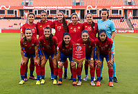 HOUSTON, TX - JANUARY 28: Costa Rica lines up for the starting XI photo during a game between Costa Rica and Panama at BBVA Stadium on January 28, 2020 in Houston, Texas.