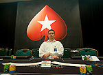 Dealers wait for the start of Day 1B of the PCA Main Event.