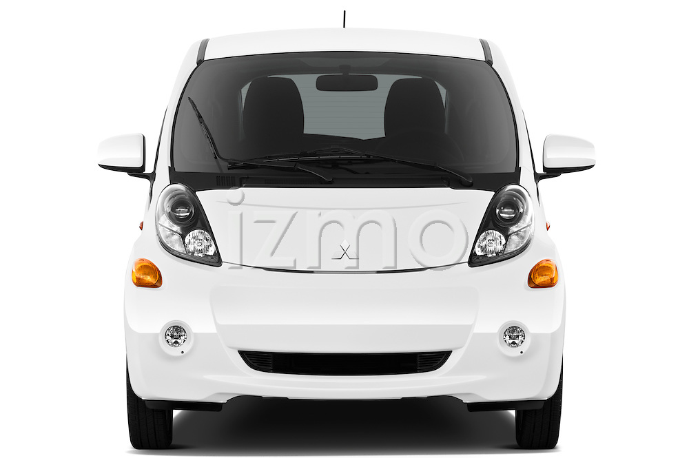 Straight front view of a 2012 Mitsubishi MiEV SE