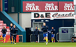 Ross County v St Johnstone…02.01.21   Global Energy Stadium     SPFL<br />Danny McNamara playing his last game for saints before returning to Millwall during the pre match warm up<br />Picture by Graeme Hart.<br />Copyright Perthshire Picture Agency<br />Tel: 01738 623350  Mobile: 07990 594431