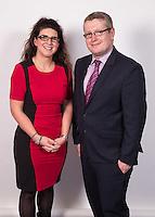 Kathryn Meir and Daniel Harley of the International Committee