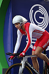 Glasgow 2014 Commonwealth Games<br /> <br /> Joanna Rowsell (England) competing in the Women's time trial race.<br /> <br /> 31.07.14<br /> ©Steve Pope-SPORTINGWALES