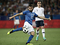 International friendly football match France vs Italy, Allianz Riviera, Nice, France, June 1, 2018. <br /> Italy's Bryan Cristante in action during the international friendly football match between France and Italy at the Allianz Riviera in Nice on June 1, 2018.<br /> UPDATE IMAGES PRESS/Isabella Bonotto