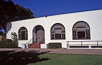 Irving Gill: La Jolla Recreation Center, 615 Prospect St.  A gift from Ellen Browning Scripps to the City of San Diego. July 3, 1915. Photo Oct. 1999.