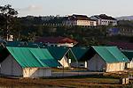 Sunrise at JPAC base camp at Ta Oy, Laos on Wednesday, November 7, 2012. (Star-Telegram/Khampha Bouaphanh)