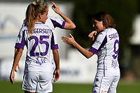 Frederikke Thogersen and Daniela Sabatino of ACF Fiorentina during the women Serie A football match between AS Roma and ACF Fiorentina at Tre Fontane Stadium in Roma (Italy), November 7th, 2020. Photo Andrea Staccioli / Insidefoto