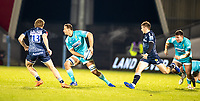 8th January 2021; AJ Bell Stadium, Salford, Lancashire, England; English Premiership Rugby, Sale Sharks versus Worcester Warriors; Anton Bresler of Worcester Warriors prepares to pass across his line
